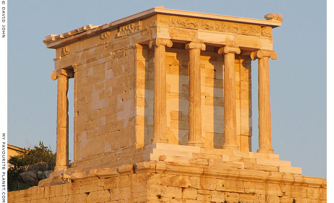 The temple of Athena Nike on the Acropolis, Athens, Greece at My Favourite Planet