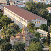 The Stoa of Attalus, in the Ancient Agora, Athens, Greece