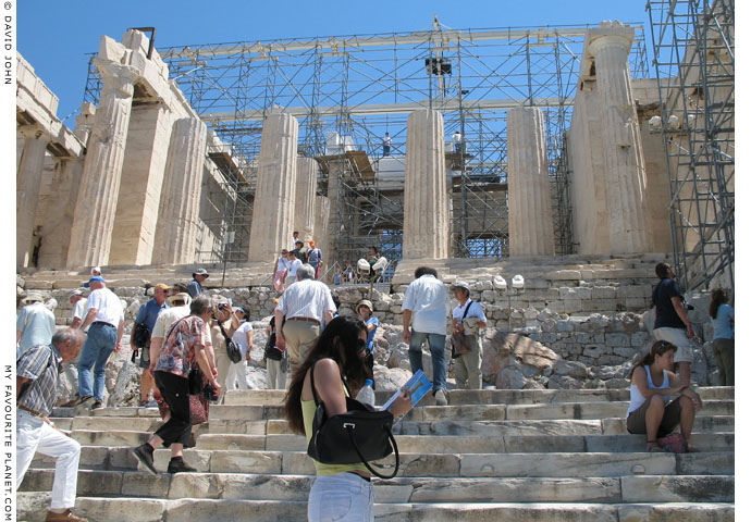The Roman stairway up to the Propylaia of the Acropolis, Athens, Greece at My Favourite Planet