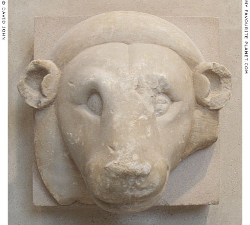 An Archaic marble lion's head, Athens Acropolis at My Favourite Planet