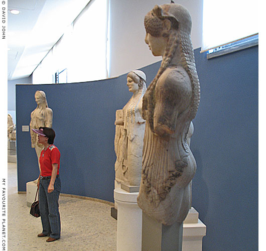 Archaic sculptures in the Old Acropolis Museum at My Favourite Planet