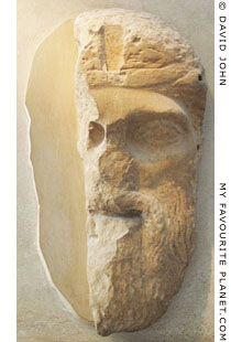 Marble mask of Dionysus at My Favourite Planet