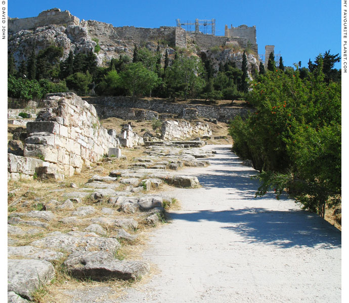 The section of the Sacred Way up to the Acropolis at My Favourite Planet