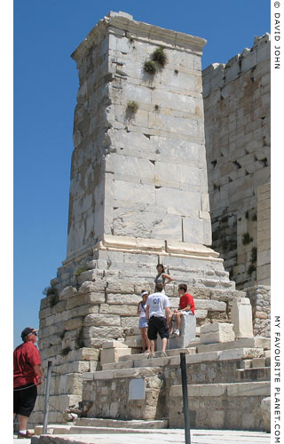 The Agrippa Pedestal, Acropolis, Athens, Greece at My Favourite Planet