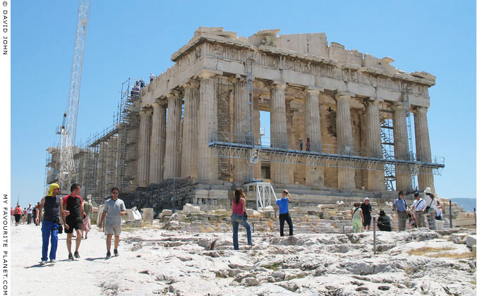 The first view of the Parthenon on the Acropolis, Athens, Greece at My Favourite Planet