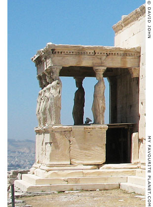 The east side of the Caryatid porch, Erechtheion, Athens, Greece at My Favourite Planet