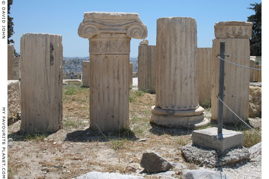 Remains of the Temple of Roma and Augustus on the Acropolis, Athens, Greece at My Favourite Planet