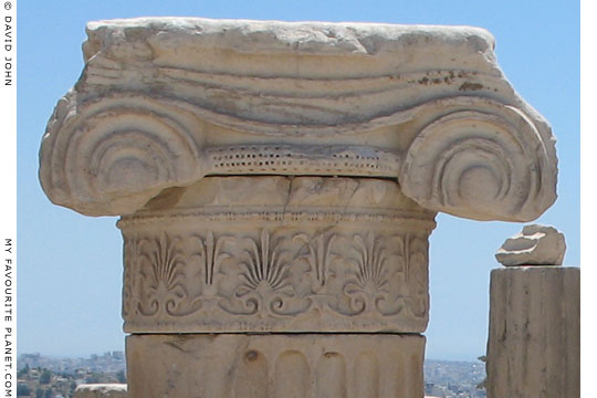 Ionic column capital from the Temple of Roma and Augustus, the Acropolis, Athens, Greece at My Favourite Planet