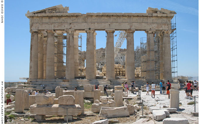The east side of the Parthenon on the Acropolis, Athens, Greece at My Favourite Planet