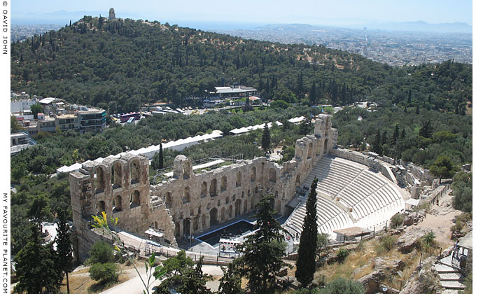 The Odeion of Herodes Atticus from the Acropolis, Athens, Greece at My Favourite Planet