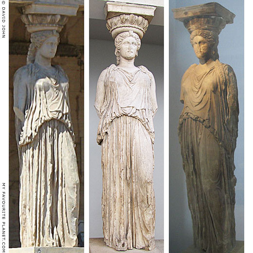 Caryatids of the Erechtheion, Acropolis, Athens, Greece at My Favourite Planet
