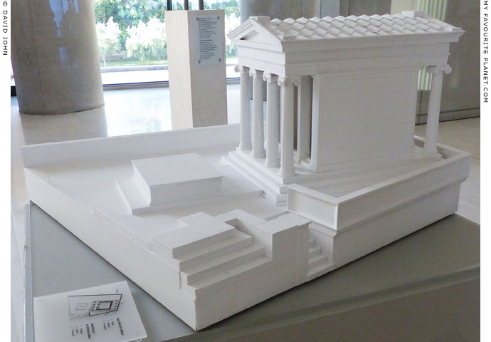 Model of the Temple of Athena Nike, Acropolis Museum, Athens, Greece at My Favourite Planet