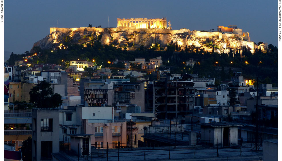 The north side of the Acropolis from a rooftop near Omonia Square at My Favourite Planet