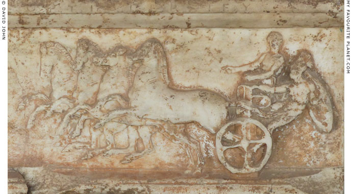 Marble relief depicting a chariot race in the Panathenaic Games at My Favourite Planet