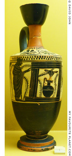 Fountain lekythos by the Gela Painter from the Agora, Athens, Greece at My Favourite Planet