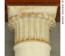 A palm leaf capital in the the Stoa of Attalus of the Ancient Agora, Athens, Greece