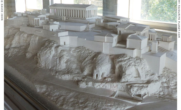A model of the Athenian Acropolis at My Favourite Planet