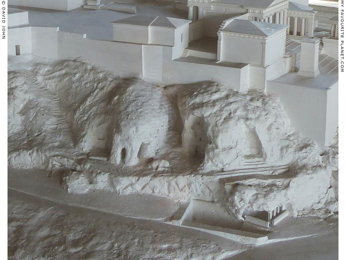 A model of the Klepsydra and the sacred caves on the north slope of the Athenian Acropolis at My Favourite Planet