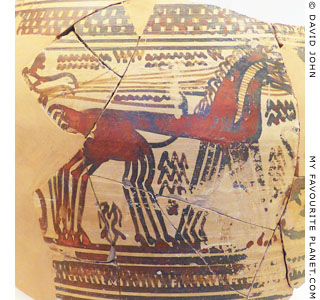 A four-horse chariot on an Archaic Athenian amphora at My Favourite Planet