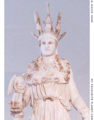 Varvakeion statuette of Athena Parthenos holding Nike at My Favourite Planet