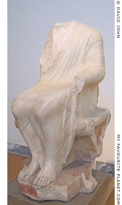 Statue of a seated Dionysos from Athens at My Favourite Planet