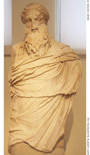 Marble statue of Dionysos-Sardanapalos type from the Theatre of Dionysos at My Favourite Planet