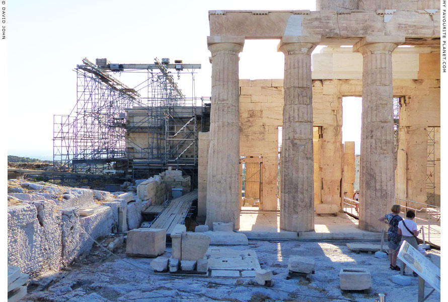 The sanctuary of Athena Hygieia, near the Propylaia, Acropolis, Athens at My Favourite Planet