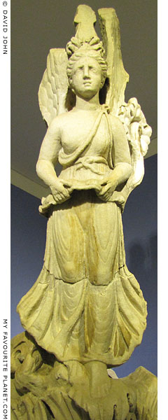 Statue of winged Nike from Pergamon at My Favourite Planet