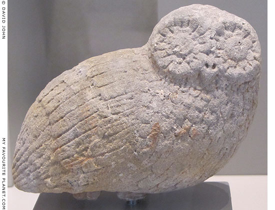 Votive owl from Athens at My Favourite Planet