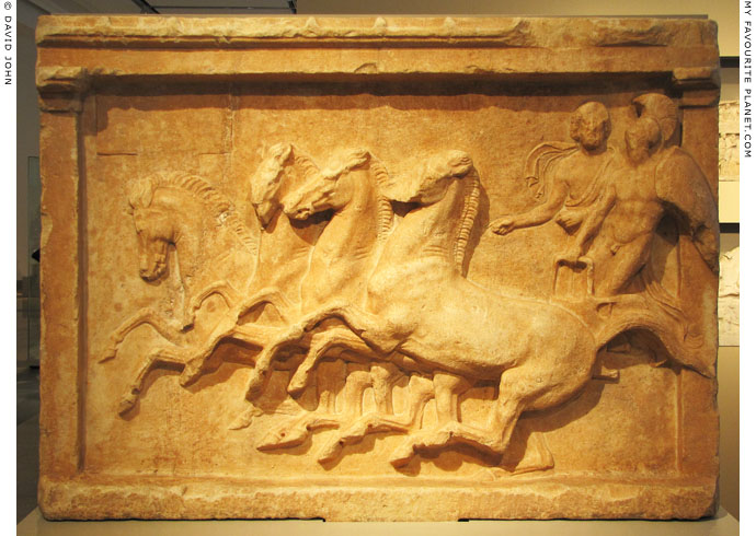 Votive relief for a chariot victory from Oropos at My Favourite Planet