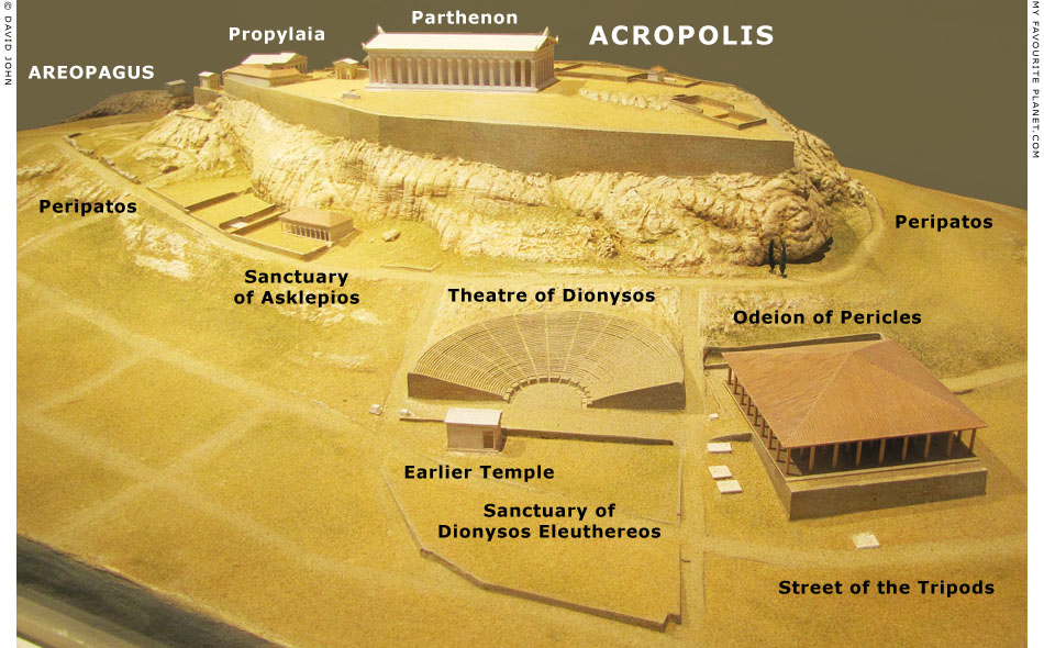 Model of the Acropolis and the Theatre of Dionysos at My Favourite Planet
