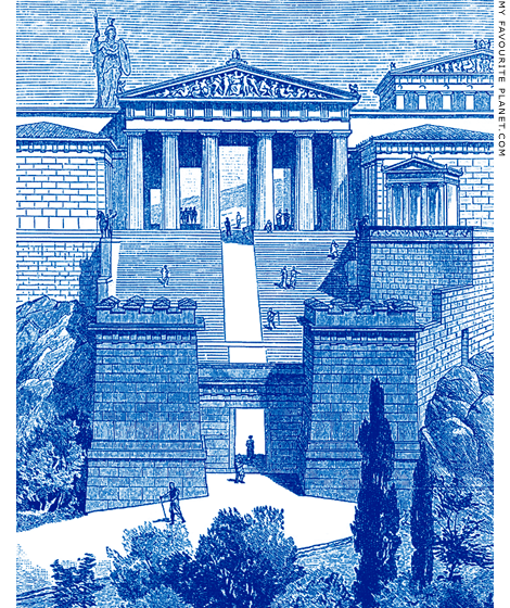 Reconstruction drawing of the entrance to the Acropolis during the late Roman period at My Favourite Planet
