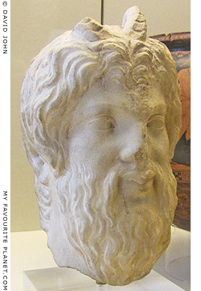 Marble head of Pan made in Athens at My Favourite Planet