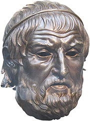 Bronze portrait thought to depict the Athenian playwright Sophocles at My Favourite Planet