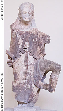 Statue of winged Nike from Delphi at My Favourite Planet