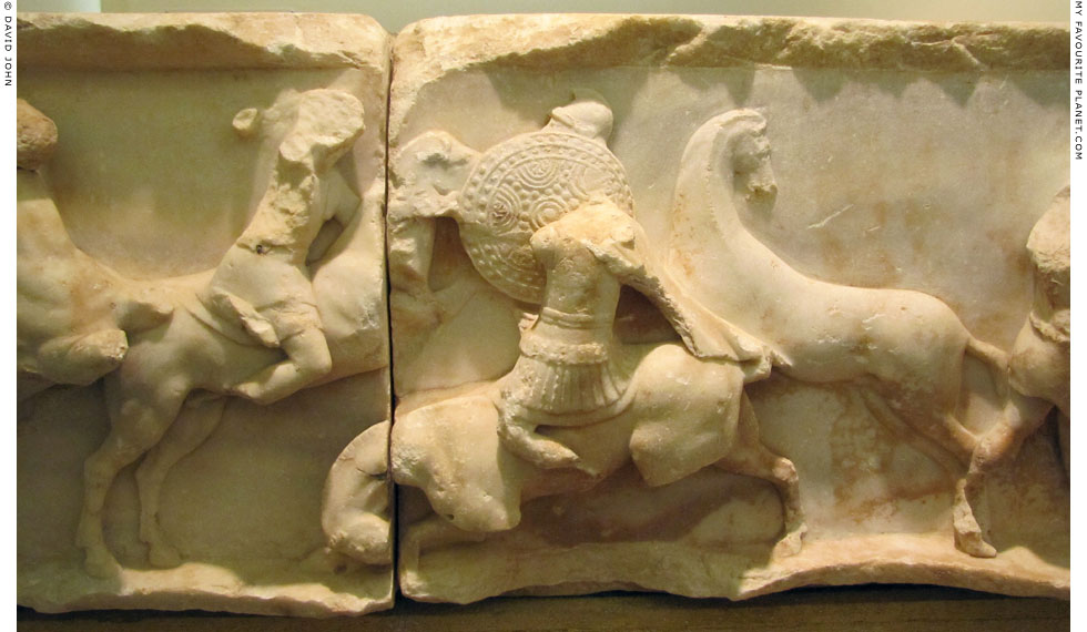 The Battle of Pydna on a relief on the Aemilius Paullus Monument at Delphi, Greece at My Favourite Planet
