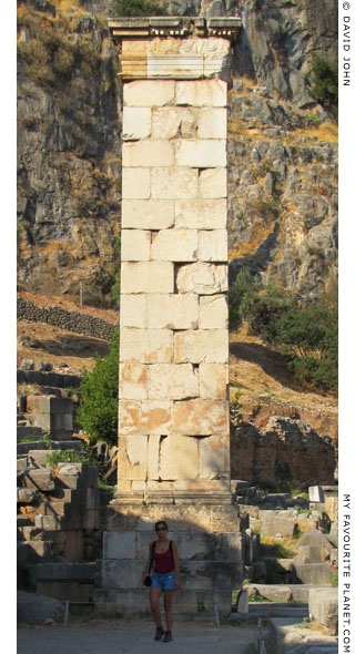 The Column of Prusias II of Bithynia in Delphi, Greece at My Favourite Planet
