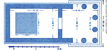 Plan of the Later Temple of Dionysos Eleuthereos, Athens at My Favourite Planet