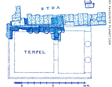 Plan of the Earlier Temple of Dionysos Eleuthereos, Athens at My Favourite Planet