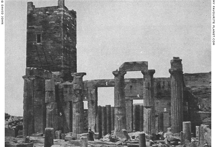 A 19th century photo of the Propylaia, Acropolis, Athens at My Favourite Planet