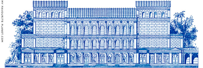 Reconstruction of the Odeion of Herodes Atticus facade