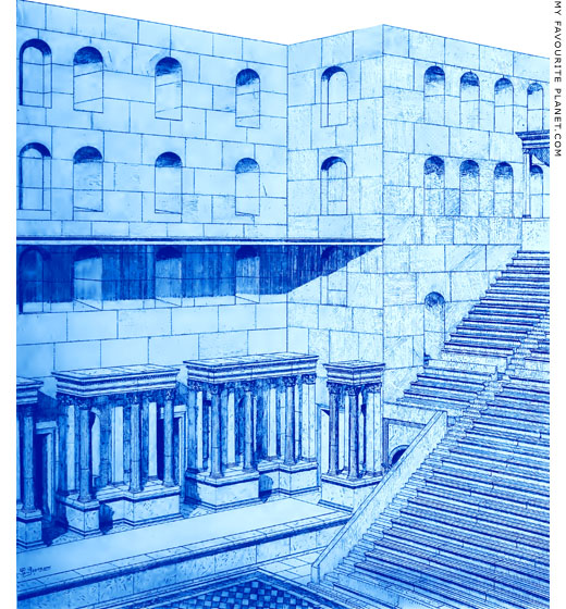 Reconstruction drawing of the interior of the Odeion of Herodes Atticus by Frideriko Versakis