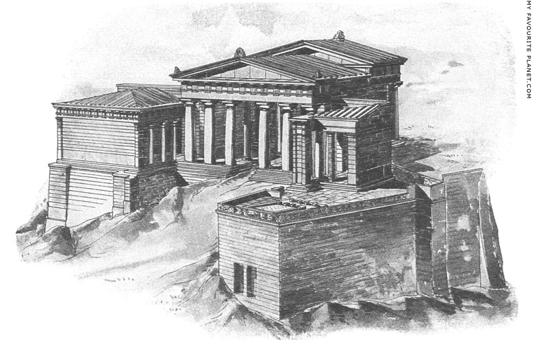 Reconstruction of the Propylaia of the Athenian Acropolis at My Favourite Planet