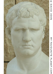 Bust of Marcus Vipsanius Agrippa in the Ara Pacis, Rome at My Favourite Planet