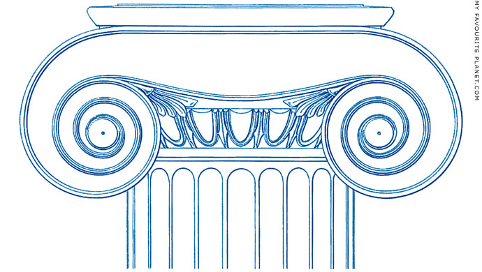 Reconstruction of an Ionic capital of the Athena Nike Temple by Hans Christian Hansen at My Favourite Planet