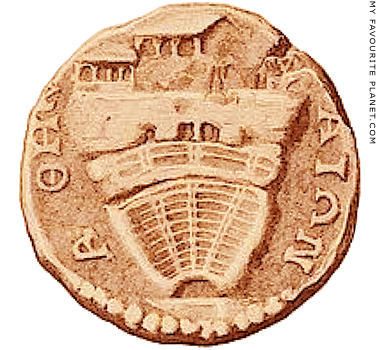 The Acropolis and the Theatre of Dionysos depicted on an Athenian bronze coin at My Favourite Planet