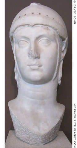 Medici type head of Athena Parthenos at My Favourite Planet
