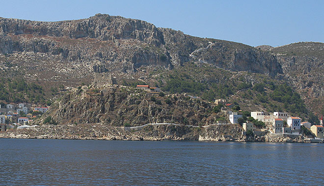 The Lycian tomb, below the Knight's Castle, Kastellorizo, Greece at My Favourite Planet