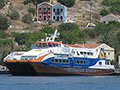 Dodekanisos Express fast hydrofoil in Kastellorizo harbour, Greece at My Favourite Planet