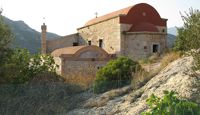 The churches of Saint Nicholas and Saint Dimitrios, on the Kavos headland, Kastellorizo, Greece at My Favourite Planet